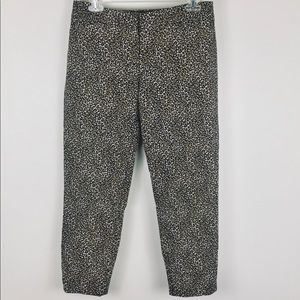 WHBM animal print leopard skinny ankle pants 4
